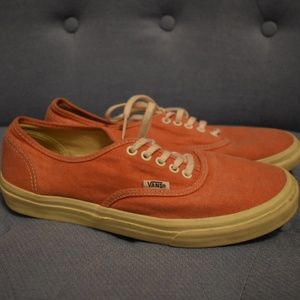 VANS Classic orange low tops Men's size 7
